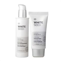 The Face Shop - White Seed Set: Real Whitening Essence 50ml + Tone-Up Cream Finisher 32ml