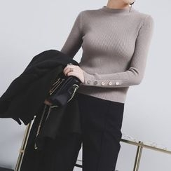 Sonne - Buttoned-Cuff Knit Top