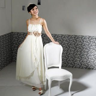 59 Seconds - Bow-Accent Chiffon Evening Gown