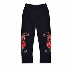 Emperial - Kids Embroidered Fleece-lined Pants
