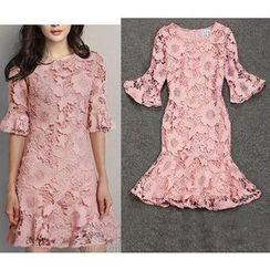 Sienne - Elbow-Sleeve Lace Dress