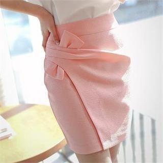 Styleberry - Shirred Front Mini Skirt