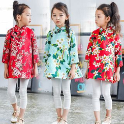 SEE SAW - Chinese Button Floral Tunic