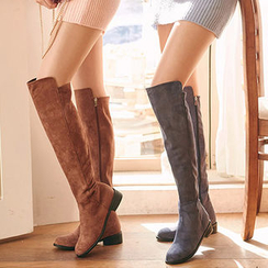 chuu - Faux-Suede Tall Boots