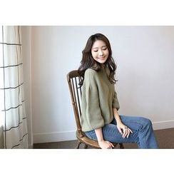 Hello sweety - Balloon-Sleeve Wool Blend Sweater