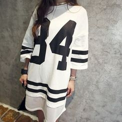 NANING9 - 3/4-Sleeve T-Shirt Dress