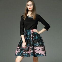 Queen Mulock - Mock Two-Piece Dress