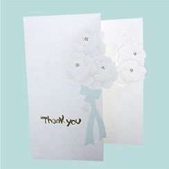 Full House - Flower-Print Thank You Greeting Card