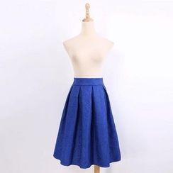 V-MAY - 压纹百褶裙