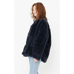 Someday, if - Hook and Eye Faux-Fur Jacket
