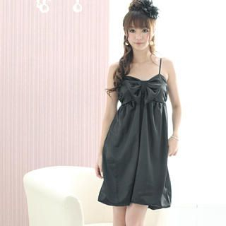 59 Seconds - Bow-Accent Empire Cocktail Dress
