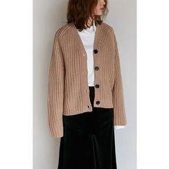 Someday, if - V-Neck Chunky-Knit Cardigan