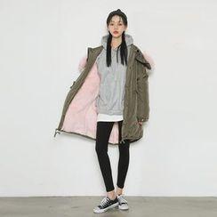 Envy Look - Faux-Fur Hood Padded Coat