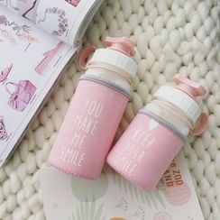 Wild Peach - Lettering Water Bottle with Cover