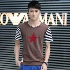 SOLER - Star Stripe Panel Short-Sleeve T-shirt