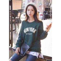 DEEPNY - 'NEW YORK STORY' Lettering Sweatshirt