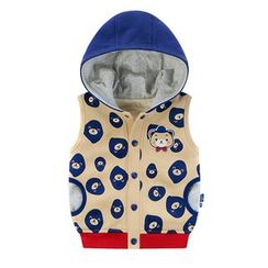 Ansel's - Kids Cartoon Print Hooded Vest