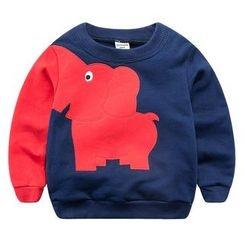 DEARIE - 兒童小象貼布插色套衫