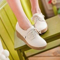 CITTA - Plain Lace Up Shoes