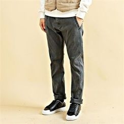 THE COVER - Drawstring-Waist Washed Pants