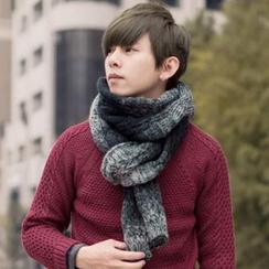 SeventyAge - 配色漸層加長針織圍巾