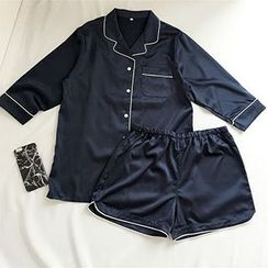 CIYEBABY - Pajama Set: 3/4-Sleeve Shirt + Shorts