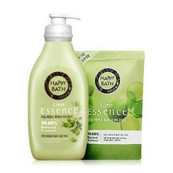 HAPPY BATH - Lime Essence Fresh Set: Body Wash 500g + Refill 250g