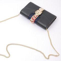 Cherryville - Chain Detail Clutch with Strap