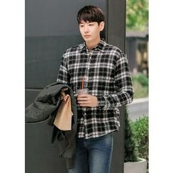 GERIO - Wool Blend Checked Shirt