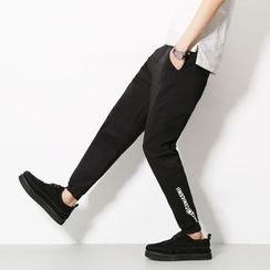 Besto - Lettering Tapered Pants