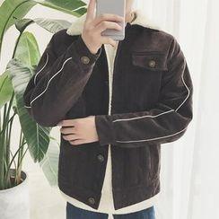 Arthur Look - Fleece-Lined Buttoned Jacket