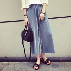 A7 SEVEN - Accordion Wide Leg Pants