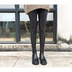 Parc - Fleece Lined Faux Leather Leggings