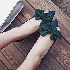 JY Shoes - Bow Pointy Pumps