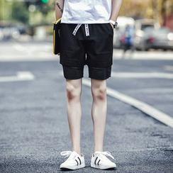 丹杰仕 - 拼接短裤