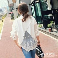 REDOPIN - Lace-Panel Top