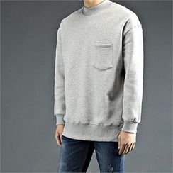 THE COVER - Mock-Neck T-Shirt