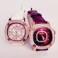 Nanazi Jewelry - Strapped Rhinestone Watch
