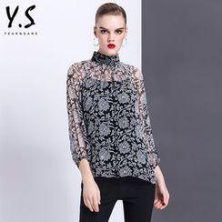 Y:Q - 圖案立領襯衫連背心