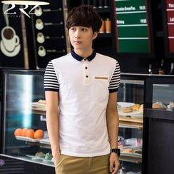 2RZ - Short-Sleeve Striped Polo Shirt
