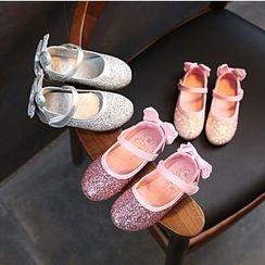 綠豆蛙童鞋 - 童裝亮面平跟鞋