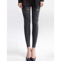 GUMZZI - Zip-Detail Leggings