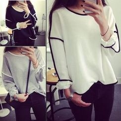 Melon Juice - Piped Long Sleeve T-Shirt