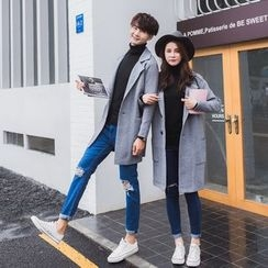 INUS - Couple Matching Lapel Wool Coat