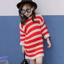 Candy Baby - Kids Long-Sleeve Striped Knit Dress