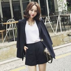 Ashlee - 套装: 细直条纹西装外套 + 裤