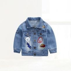 ciciibear - Kids Cartoon Denim Jacket