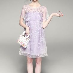 Alaroo - Embellished Short-Sleeve Dress