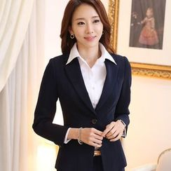 Arcadian - Set: Dress Shirt + Blazer + Dress Pants + Pencil Skirt
