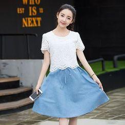 CASSY - Mock Two-Piece Dress